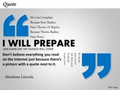 Business Diagram Motivational Quote Presentation Slide Strategic Management