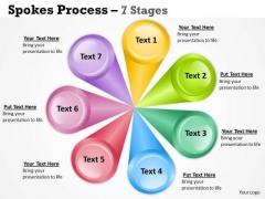 Business Diagram Multicolored Spoke Diagram Business Strategy Diagram