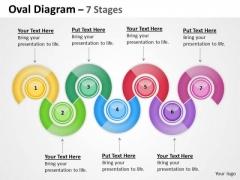 Business Diagram Oval Diagram 7 Stages Sales Diagram