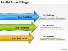 Business Diagram Parallel Arrow 3 Stages Consulting Diagram