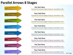 Business Diagram Parallel Arrows 8 Stages Mba Models And Frameworks