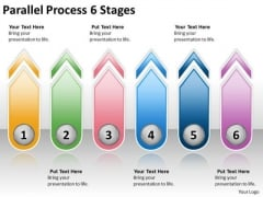 Business Diagram Parallel Process 6 Stages Strategic Management