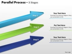 Business Diagram Parallel Process Stages Marketing Diagram