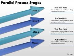 Business Diagram Parallel Process Stages Sales Diagram