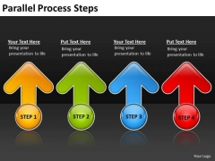 Business Diagram Parallel Process Steps Marketing Diagram