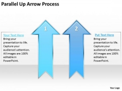 Business Diagram Parallel Up Arrow Process Consulting Diagram
