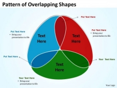 Business Diagram Pattern Of Overlapping Shapes 3 Stages Marketing Diagram