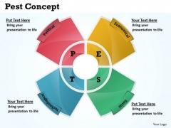 Business Diagram Pest Concept Business Cycle Diagram
