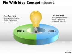 Business Diagram Pie With Idea Concept Stages Marketing Diagram