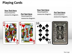 Business Diagram Playing Cards Marketing Diagram