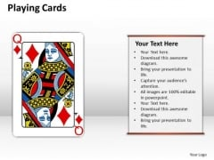 Business Diagram Playing Cards Strategy Diagram
