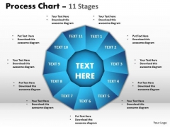 Business Diagram Process Chart 11 Stages Marketing Diagram