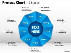Business Diagram Process Chart 9 Stages Sales Diagram