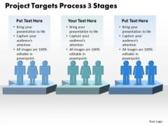 Business Diagram Project Targets Process 3 Stages Business Cycle Diagram