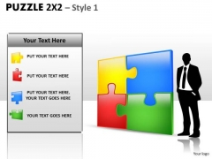 Business Diagram Puzzle 2x2 Style 1 Sales Diagram