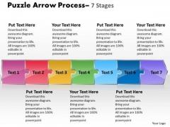 Business Diagram Puzzle 7 Stages Sales Diagram