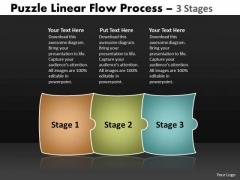 Business Diagram Puzzle Linear Flow Process 3 Stages Sales Diagram