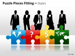 Business Diagram Puzzle Pieces Fitting Style 1 Consulting Diagram