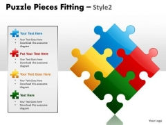 Business Diagram Puzzle Pieces Fitting Style 2 Marketing Diagram