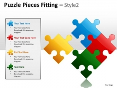 Business Diagram Puzzle Pieces Fitting Style 2 Sales Diagram