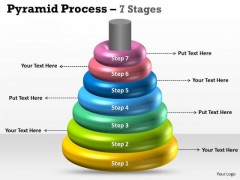 Business Diagram Pyramid Process 7 Stages Business Sales Diagram
