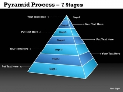 Business Diagram Pyramid Process 7 Stages Of Sales Strategic Management