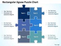 Business Diagram Rectangular Jigsaw Puzzle Chart Sales Diagram