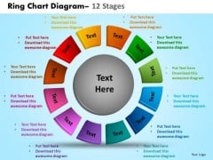 Business Diagram Ring Chart Diagram 12 Stages Consulting Diagram