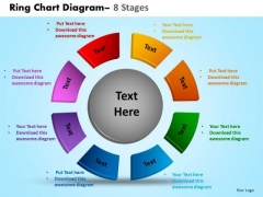 Business Diagram Ring Chart Diagram 8 Stages Sales Diagram