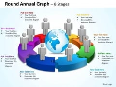 Business Diagram Round Annual Graph 8 Stages Marketing Diagram