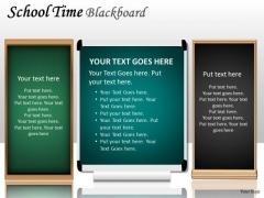 Business Diagram School Time Blackboard Marketing Diagram