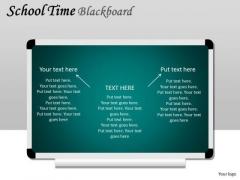 Business Diagram School Time Blackboard Sales Diagram