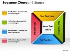 Business Diagram Segment Donut 4 Stages Consulting Diagram