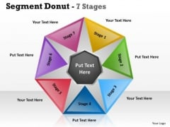 Business Diagram Segment Templates Donut 7 Stages Marketing Diagram