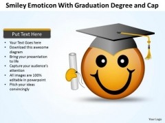 Business Diagram Smiley Emoticon With Graduation Degree And Cap Mba Models And Frameworks
