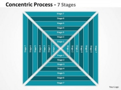 Business Diagram Sqare Concentric Process With 7 Stages Strategy Diagram