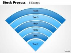 Business Diagram Stack Process 6 Triangle Shape Business Framework Model