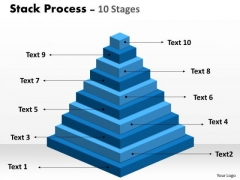 Business Diagram Stack Process With 10 Stages Marketing Diagram
