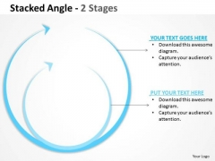 Business Diagram Stacked Round Angle 3 Strategic Management