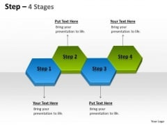 Business Diagram Step 4 Stages 4 Sales Diagram