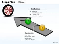 Business Diagram Steps Plan 2 Stages