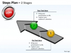 Business Diagram Steps Plan 2 Stages Style 4