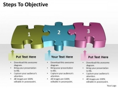 Business Diagram Steps To Objective Strategy Diagram