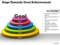Business Diagram Steps Towards Goal Achievement Consulting Diagram