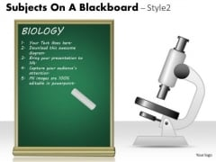 Business Diagram Subjects On A Blackboard Marketing Diagram
