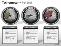 Business Diagram Tachometer Full Dial Business Cycle Diagram