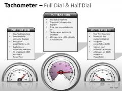 Business Diagram Tachometer Full Dial Marketing Diagram