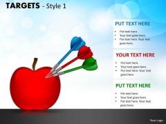 Business Diagram Targets Style 1 Sales Diagram