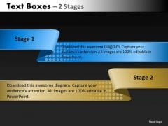 Business Diagram Text Boxes 2 Stages Consulting Diagram