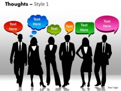 Business Diagram Thoughts Style 1 Sales Diagram
